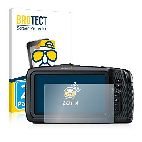 BROTECT Entspiegelungs-Schutzfolie kompatibel mit Blackmagic Pocket Cinema 4K Camera [2er Pack] - Anti-Reflex, Matt -