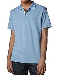 BURBERRY Polo - Uni - Col Chemise Classique - Manches Courtes - Homme Bleu  Pale Blue 8d881f2e3f7
