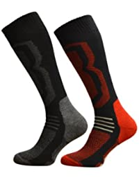 4 Pairs Of Mens Winter Freshfeel SKI Socks - Ultimate High Performance Size 6-11
