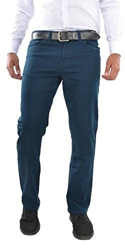 Herren Jeans Hose Straight Leg gerader Schnitt NEU Blue Petrol (W36/L32) -