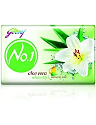Godrej No.1 Aloe Vera and White Lily Soap, 100g (Buy 3 Get 1 Free)