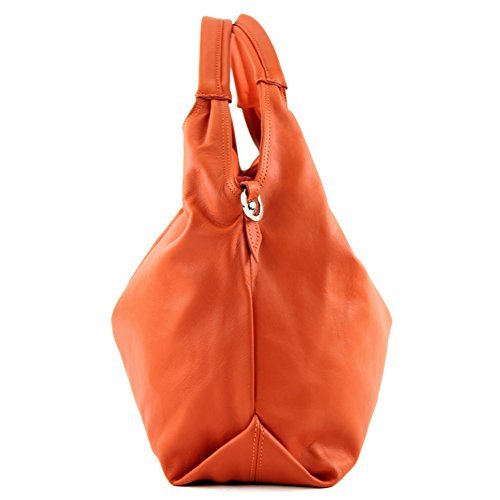 a Made spalla Italy Borsa Orange Made Italy donna BIdxq7w