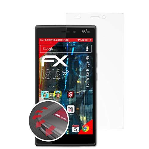 atFolix Schutzfolie passend für Wiko Ridge 4G Folie, entspiegelnde & Flexible FX Bildschirmschutzfolie (3X)