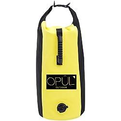Bolsa Estanca de Opul, 25 Litros, Doble Correa Acolchada - Bolsa impermeable para mantener tus cosas secas y seguras, idónea para hacer kayak, nadar, hacer acampada, pesca, rafting,snowboard