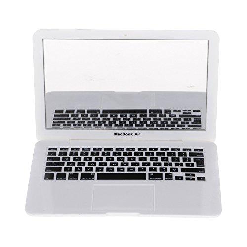 HuaYang-Espejo cosmético ABS Laptop Ordenador Portatil Forma portátil maquillarse