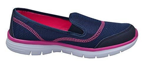 Donna Superleggero Memory Foam Da Passeggio Da Palestra Scarpe Con Skechers Calze Navy