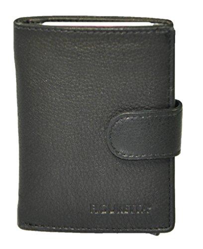 e1e06a2c23d25 FIGURETTA Geldbörse Mini Wallet RFID Blocker Leder Ledergelbeutel MInibörse