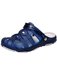Qiusa Chaussures de Course pour Hommes, Baskets, Chaussures à Lacets, Tongs, Tongs, Tongs, Espadrilles, Coin, Marche, randonnée, entraînement, Sandales de Plage (coloré : Bleu, Taille : EU43/CN44)