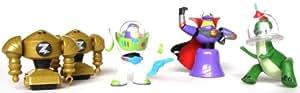 Disney Pixar Toy Story Galaxy Rescue Buddy Coffret 5 Mini Figurine (Zurg's Robots, Grapnel Buzz Lightyear, Zurg et Rex)