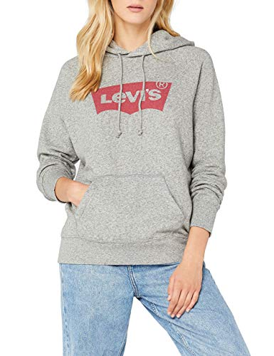Levi's Damen Graphic Sport Hoodie Pullover, Grau Housemark Smokestack Htr 0003, XX-Small