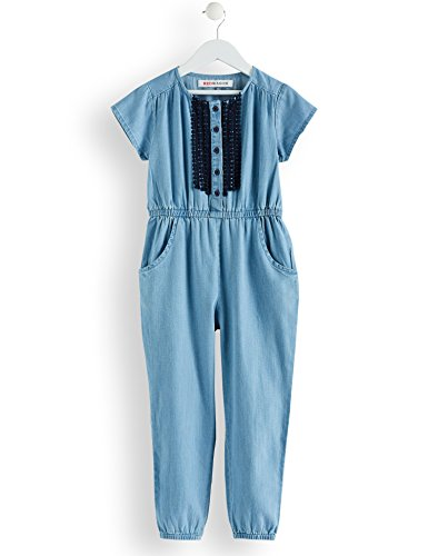 RED WAGON RED WAGON Mädchen Kleid Denim Jumpsuit, Blau (Blue), 104 (Herstellergröße: 4 Jahre)
