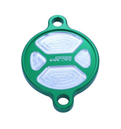 CNC billet Vert Bouchon de couvercle de filtre à huile en aluminium pour Kawasaki KXF Kx250 F 2005-2016 06 07 08 09 10 11 12 13 14 15 Moto Dirt bike