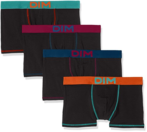 Dim Herren Panties, 4er Pack Multicolore (Mix Estival: Noir Ct Bleu Lagune/ Ct Orange Feu/ Ct Bleu Pétrole/ CT Violet Lie de Vin)