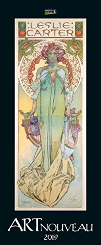 Art Nouveau 2019: Kunstkalender mit Jugendstilplakaten der Belle Époque. Wandkalender im...
