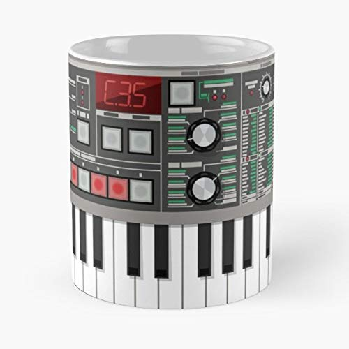 Synth Synthesizer Synthesiser Electronic Techno Electro Rave Acid Edm Industrial Party Clubbing - Bestes 11 Unze-Keramik-Kaffeetasse Geschenk