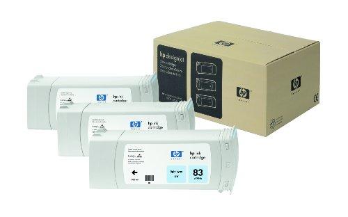 680 Ml Light (HP 83 3er-Pack Cyan hell Original UV-Tintenpatronen, 680 ml)