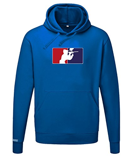 Paintball Logo - Sport Hobby - Herren HOODIE in Royalblau by Jayess Gr. M