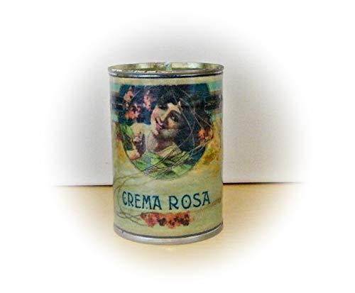 Kerze in der Dose Crema Rosa Unikat handmade