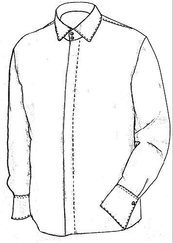 Tziacco Royal Camicia, Hai colletto, Bianco Bianco
