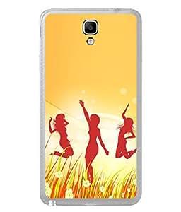 PrintVisa Designer Back Case Cover for Samsung Galaxy Note 3 Neo :: Samsung Galaxy Note 3 Neo Duos :: Samsung Galaxy Note 3 Neo 3G N750 :: Samsung Galaxy Note 3 Neo Lte+ N7505 :: Samsung Galaxy Note 3 Neo Dual Sim N7502 (Dancing Girls In Happy Moments Design)