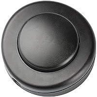 Legrand, Interruptor De Pie Para Lampara Negro, Medidas 5Cm X 5Cm X2Cm