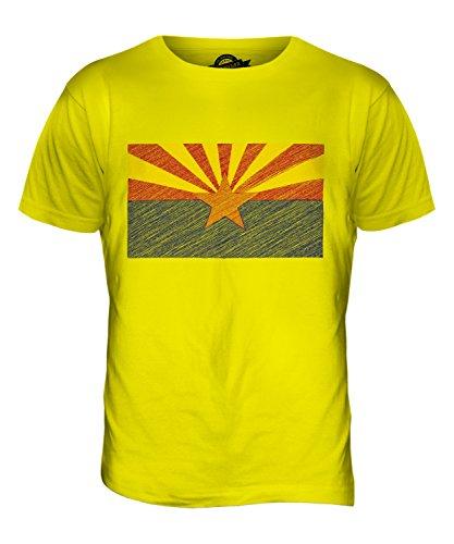 CandyMix Bundesstaat Arizona Kritzelte Flagge Herren T Shirt Zitronengelb