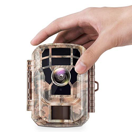"""Campark Mini Wildkamera 12MP 1080P HD mit Bewegungsmelder Nachtsicht Wildlife Jagdkamera Wildtierkamera mit 120° und 2.0\"""" LCD IR LEDs"""