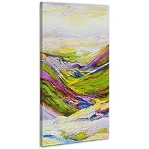100% LABOR A MANO + certificado / 115x50 cm / Valle de deseos / El cuadro dibujado con pinturas acrílicas / cuadros sobre el lienzo con bastidor de madera / cuadro dibujado a mano / montaje cómodo sobre la pared / Arte contemporáneo