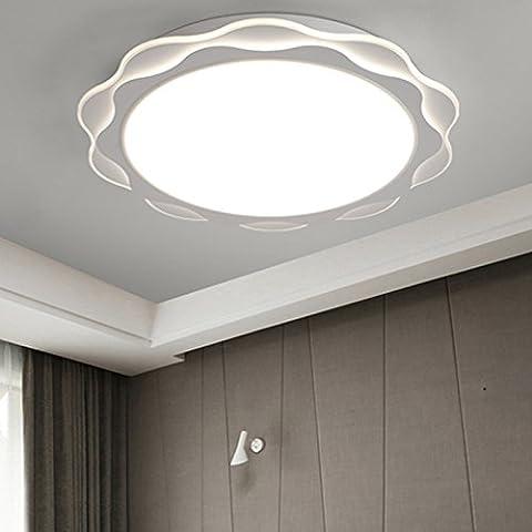 Matcose Moderno e minimalista vestito lampade a soffitto europeo per la camera da letto balcone soggiorno Slimline LED luce a soffitto, diametro 42cm bianco monocromatico 24W