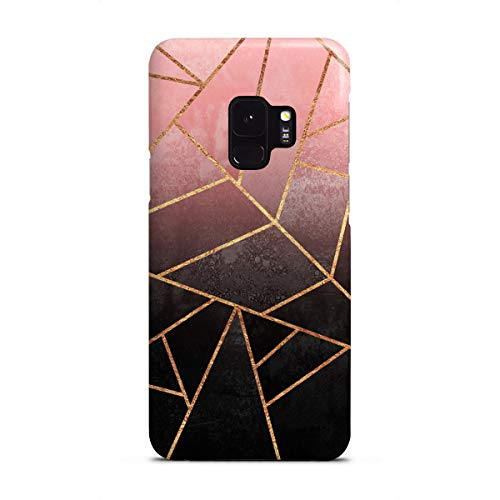 Black Galaxy Stone (artboxONE Premium-Case Handyhülle für Samsung Galaxy S9 Pink and Black Stone von Elisabeth Frederiksson)