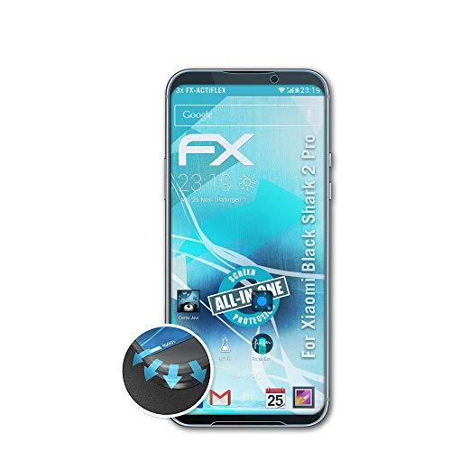 atFolix Schutzfolie passend für Xiaomi Black Shark 2 Pro Folie, ultraklare & Flexible FX Bildschirmschutzfolie (3X)