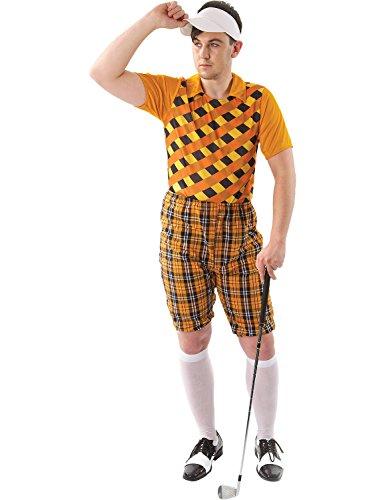 Herren Tartan Pub Golf Golfspieler Hirsch Karneval Kostüm hut Visor Extra (Kostüm Golf Herren Für)