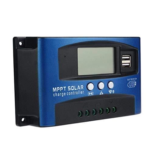 Fuhuihe 12V/24V Mttp Solar Charge controller pannello solare regolatore di carica batteria intelligente con doppia porta USB LCD Display protezione di sovracorrente per casa, industria, commerciale