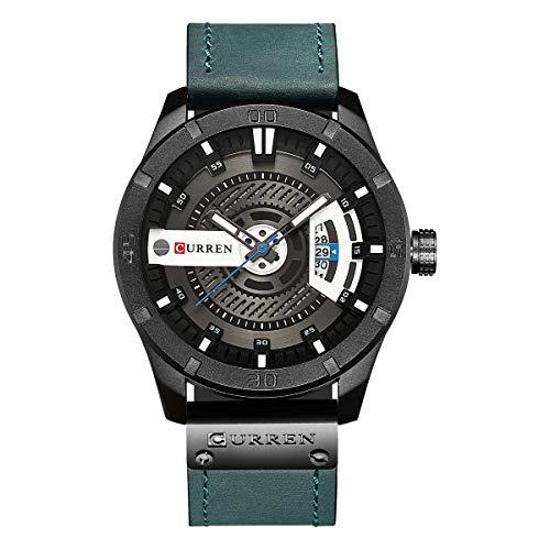 Curren hombres reloj de cuarzo analógico, reloj de pulsera...