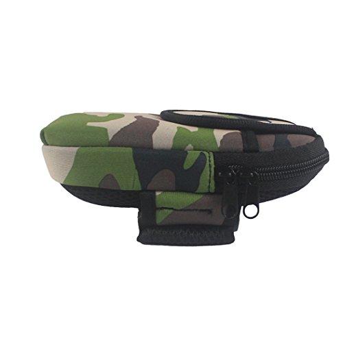 zoohot Running Gürtel, Herren Damen Fitness Gürtel & Armband Handy Tasche, Geldbeutel, Karte Tasche, Schrank Aufbewahrungstasche Large-Camouflage