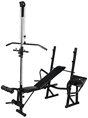 vidaXL Weight Bench Fitness Workout Bench Adjustable Gym Masrter High-quality by vidaXL