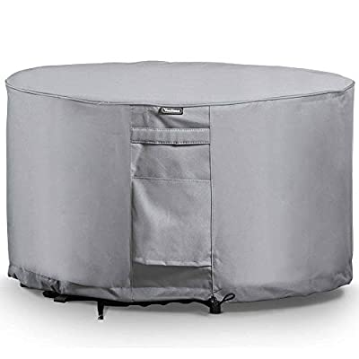 VonHaus Waterproof Garden Furniture Covers - 'The Storm Collection' Premium Heavy Duty Breathable Fabric Protection for Patio & Outdoor Furniture - Slate Grey