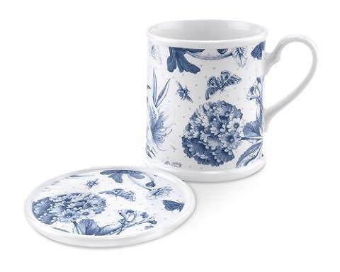 Portmeirion Botanic Blue I201Mug And Coaster Set