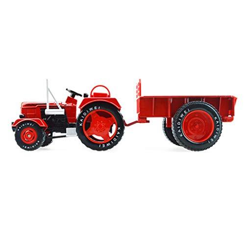 XJRHB 1:18 traktor modell simulation legierung engineering auto spielzeug landwirt kultivierung lkw (Color : Red)