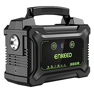 ENKEEO 220W / 60000mah Batterie Externe Portable Groupe Eléctrogène Alimentation de Secours avec Ecran LED et AC/DC/QC/USB pour Maison Chantier Camping