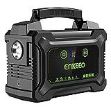 ENKEEO 220W / 60000mah Batterie Externe Portable Groupe Eléctrogène Alimentation de Secours avec Ecran LED et AC/DC/QC/USB pour Maison Chantier Camping...