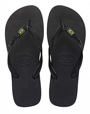 Havaianas Brasil, Unisex Adults' Flip Flops, Black (Black 0090), 1/2 UK (33/34 Brazilian) (35/36 EU)