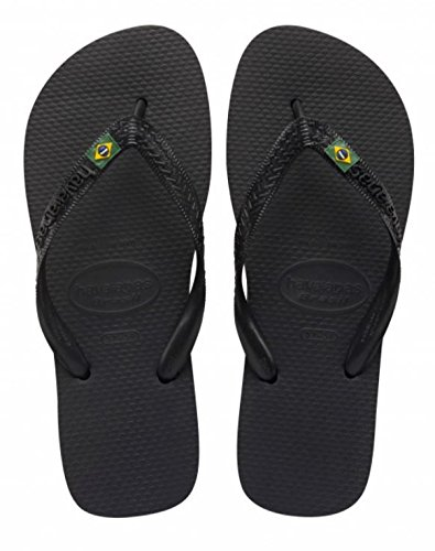Havaianas Brasil, Unisex Adults' Flip Flops, Black (Black 0090), 8 UK (41/42...