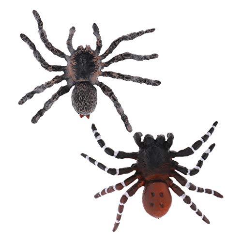 Modell Spielzeug Dekospinnen mit 2 Vielfalten Brasilianische Rote/Weiße Spinne ()