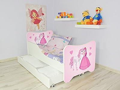 TODDLER CHILDREN KIDS BED INCLUDING MATTRESS + DRAWER 160x80!! 30 DESIGNS!!!