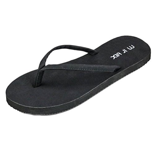 Zhhlaixing Fashion Unisex Beach Flat Shoes Adults Comfortable Non-slip Slippers Black
