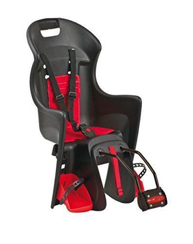 Polisport Kinder Kindersitze/fahrradsitz Boodie Schwarz/Rot, S