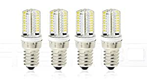 E14 4W 64*3014 210LM 3000K Warm White LED Light Bulb (4-Pack) - 4W, 64*3014, 210LM, 3000K, 4-Pack