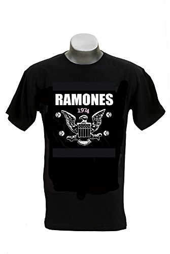 Ramones Eagle (RGM838 Ramones 1974 Eagle T-shirt Size: MEDIUM)