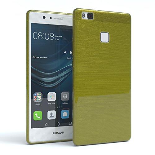 Huawei P9 Lite Hülle, EAZY CASE Ultra Slim TPU Handyhülle - dünne transparente Schutzhülle aus Silikon Brushed Grün